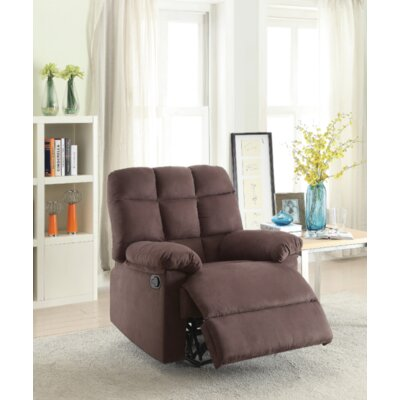 Gascon Manual Recliner Upholstery: Chocolate