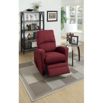 Yeary Manual Swivel Recliner Upholstery: Carmine