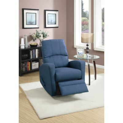 Yeary Manual Swivel Recliner Upholstery: Navy