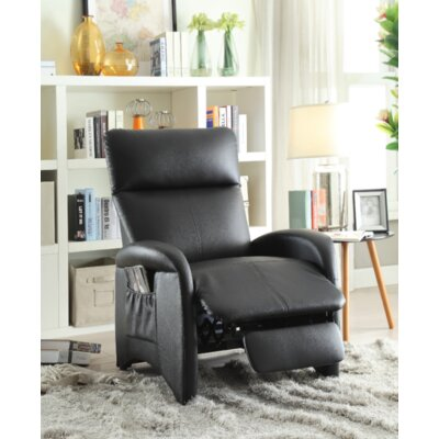 Pallesen Manual Recliner Upholstery: Black