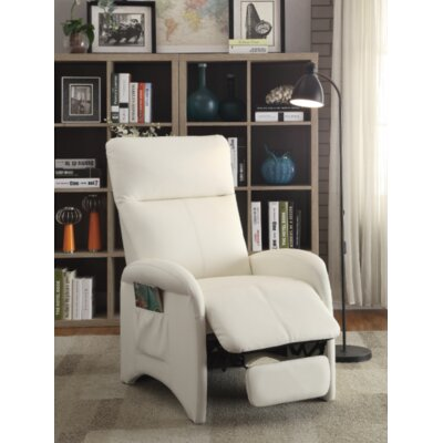 Pallesen Manual Recliner Upholstery: White