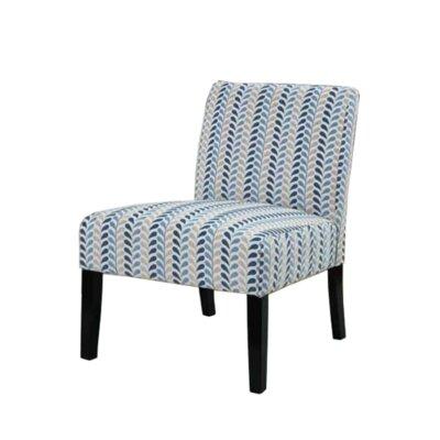 Gaskill Slipper Chair Upholstery: Blue/Chevron