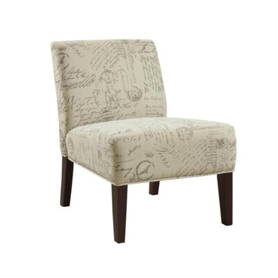 Gaskill Slipper Chair Upholstery: Off White/Gray
