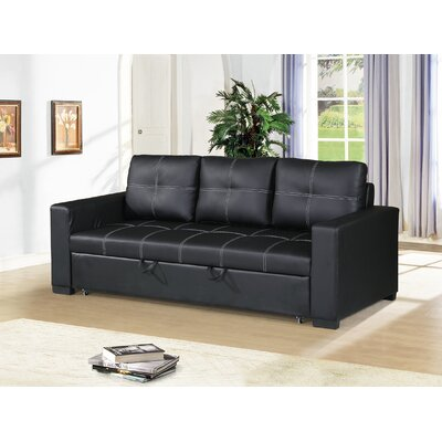 Bhondave Reclining Sofa Color: Black