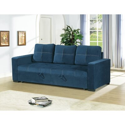 Bhondave Convertible Sofa Color: Navy