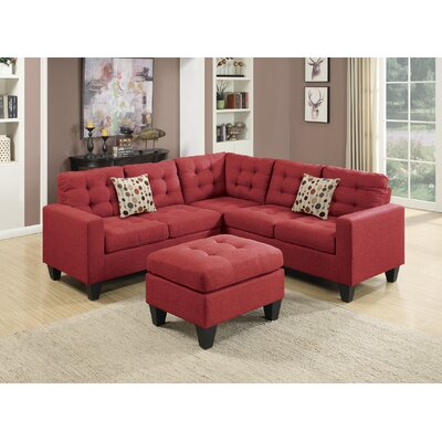 Bucz Modular Sectional Color: Carmine