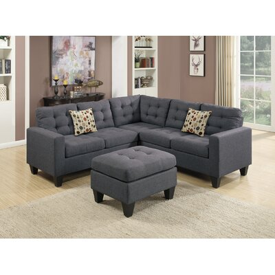 Bucz Modular Sectional Color: Blue Gray