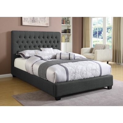 Shepley Panel Bed Color: Charcoal, Size: Queen