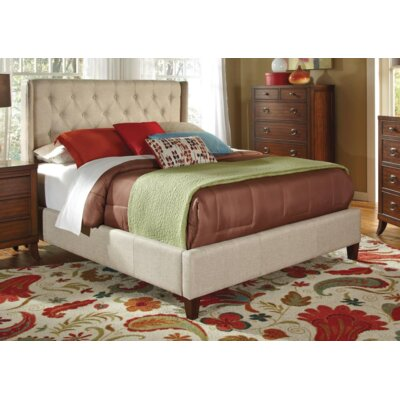 Acquah Panel Bed Color: Oatmeal, Size: Queen
