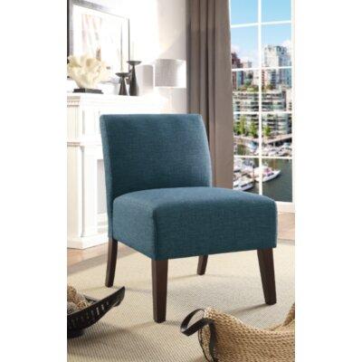 Gaskill Slipper Chair Upholstery: Navy/Solid