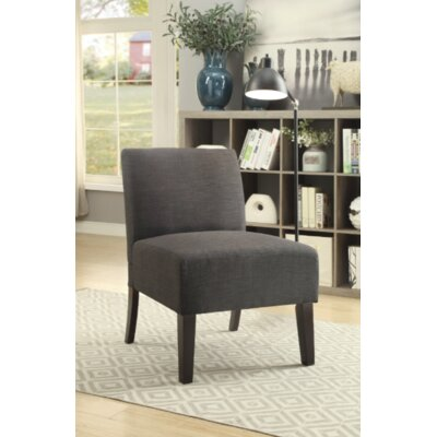 Gaskill Slipper Chair Upholstery: Ash Black/Solid