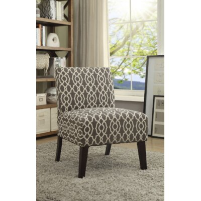Gaskill Slipper Chair Upholstery: White/Geometric