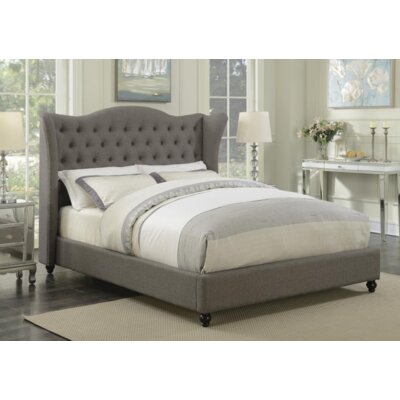 Damaris Upholstered Panel Bed Color: Light Gray, Size: Queen