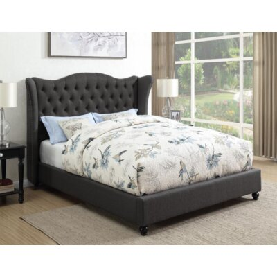 Damaris Upholstered Panel Bed Color: Slate Gray, Size: King