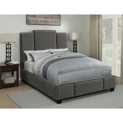 Yerger Upholstered Panel Bed Color: Gray, Size: Queen