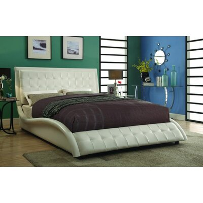 Woodworth Panel Bed Color: White, Size: Queen