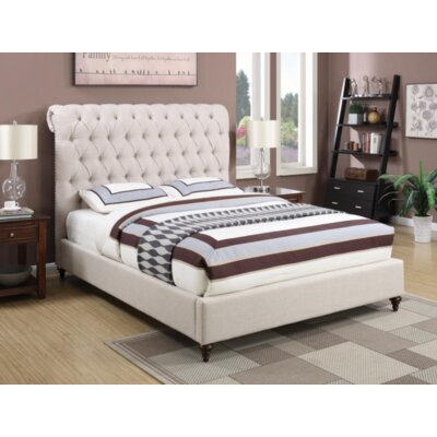 Bodhi Upholstered Sleigh Bed Color: Beige, Size: Full