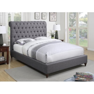 Bodhi Upholstered Sleigh Bed Color: Gray, Size: Full