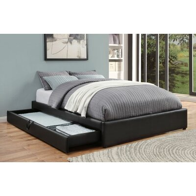 Showman Upholstered Storage Platform Bed Size: Queen