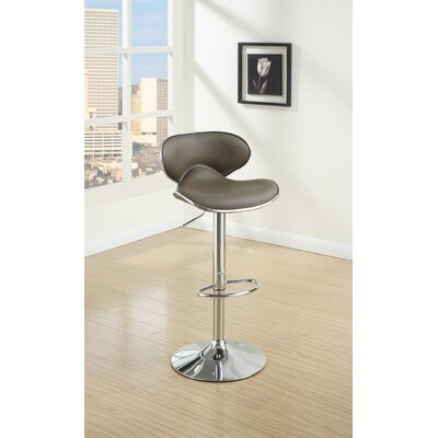 Crayton Adjustable Height Swivel Bar Stool Upholstery: Espresso