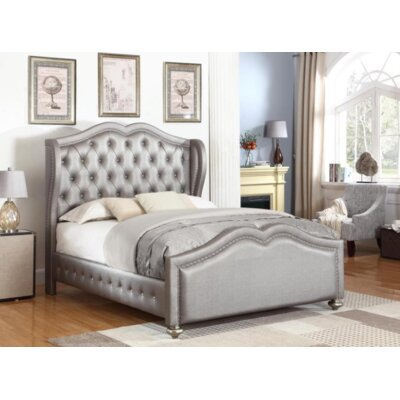 Curtis Upholstered Panel Bed Size: California King