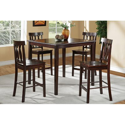Chuckanut 5 Piece Counter Height Dining Set