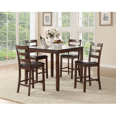 Climsland 5 Piece Counter Height Dining Set