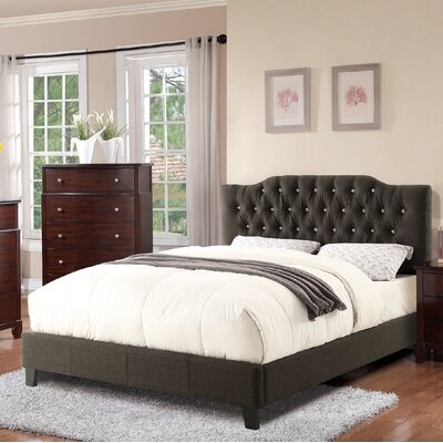 Cohen Upholstered Platform Bed Color: Ash Black, Size: Queen