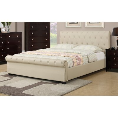 St. Lawrence Upholstered Sleigh Bed Color: Hazelnut, Size: Full