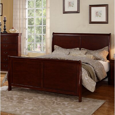 Bois Sleigh Bed Color: Cherry, Size: Queen