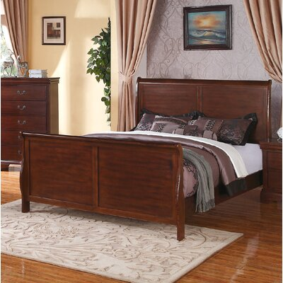 Bois Sleigh Bed Color: Dark Walnut, Size: California King