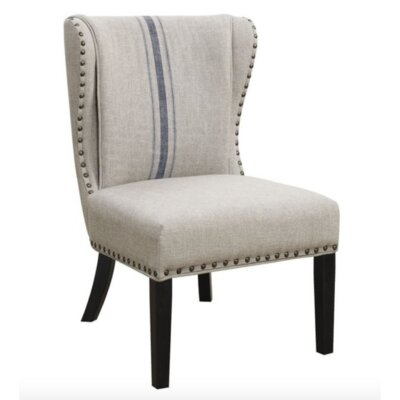 Brownstown Wingback Chair Upholstery: Gray/Blue