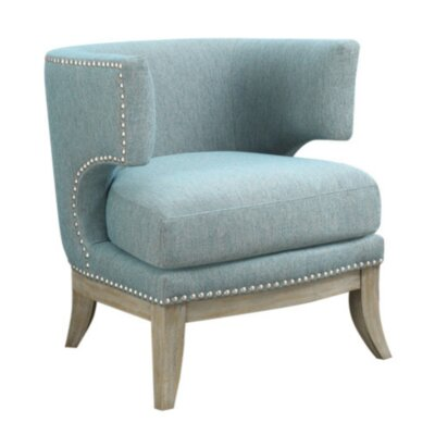 Aurore Barrel Chair Upholstery: Bule