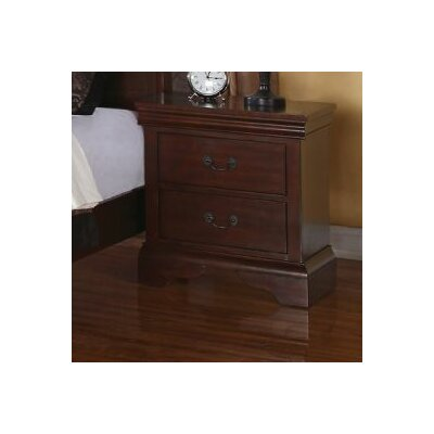 Bois 2 Drawer Nightstand Color: Dark Walnut