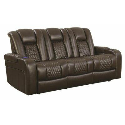 Tregre Power Reclining Sofa Color: Brown