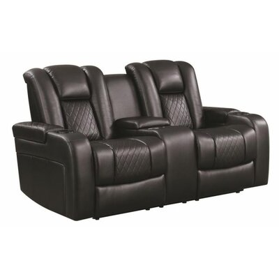 Tregre Power Reclining Loveseat Color: Black