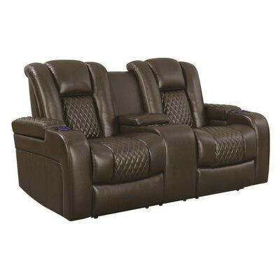 Tregre Power Reclining Loveseat Color: Brown