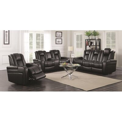 Tregre Power Recline 3 Piece Living Room Set Color: Black