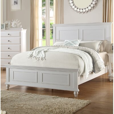 Ensley Panel Bed Color: White, Size: California King