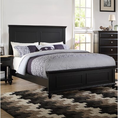 Ensley Panel Bed Color: Black, Size: Queen
