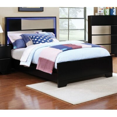 Hedberg Panel Bed Size: Twin, Bed Frame Color: Black