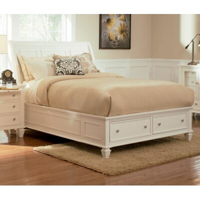 Tuohy Storage Platform Bed Color: White, Size: King