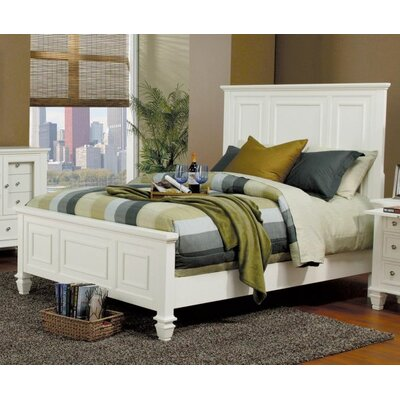 Tuohy Panel Bed Color: White, Size: King