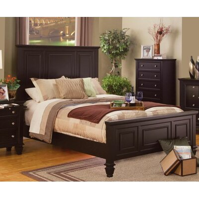 Tuohy Panel Bed Color: Cappuccino, Size: King
