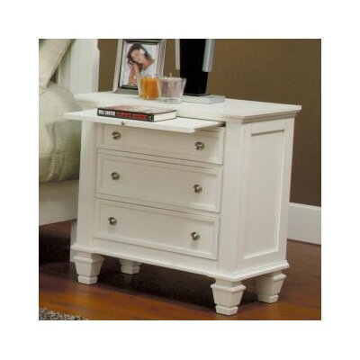 Tuohy 3 Drawer Nightstand Color: White