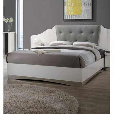 Hillenbrand Panel Bed Size: King, Color: White