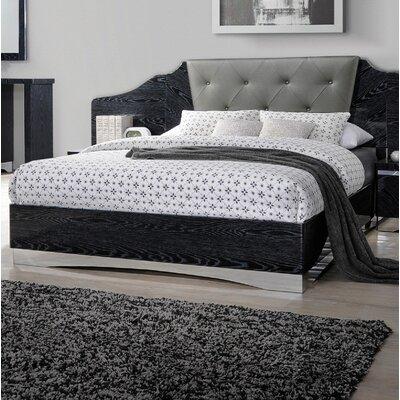Hillenbrand Panel Bed Size: King, Color: Black
