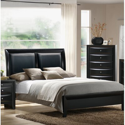 Vanleuven Upholstered Sleigh Bed Size: King