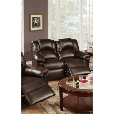 Cannady Reclining Loveseat Upholstery: Espresso