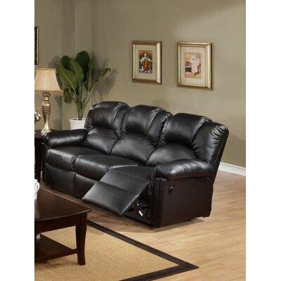 Cannady Reclining Sofa Upholstery: Black